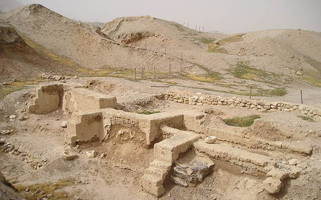 Dwelling foundations unearthed at Tell es-Sultan in Jericho. Wikipedia