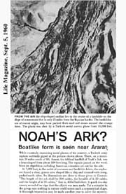 Fascinating:RonWyatt'sattentionandimaginationwascapturedbythisLIFEmagazinephotoofanunusualformationineasternTurkeythatsomebelievedmightbetheremainsofNoah'sArk.PhotocourtesyWyattArcheologicalResearch